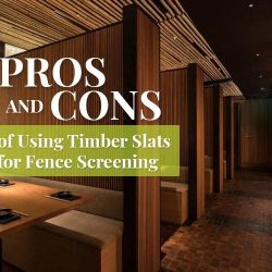 Pros and Cons of Using Timber Slats for Fence Screening